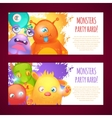 monsters horizontal banners vector image vector image