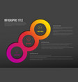 multipurpose infographic template with three vector image