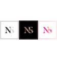 Ns monogram ns initial wedding ns logo company