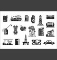 oil production set of icons vector image vector image