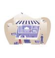 online shop picture with internet idea vector image