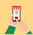 order food online vector image vector image