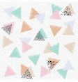 pastel ornament with triangles vector image