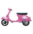 pink retro scooter vector image