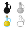 pitcher with olive oilolives single icon in vector image vector image