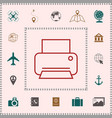 print line icon elements for your design vector image