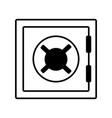 safe box money vector image