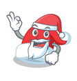 santa christmas hat character cartoon vector image vector image