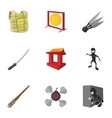 Scout icons set cartoon style vector image vector image