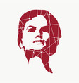 silhouette of a female head vector image vector image