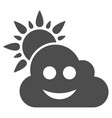 smile weather flat icon vector image