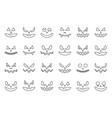 spooky halloween face outline icon editable stroke vector image