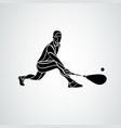 squash player creative abstract silhouette vector image vector image