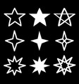 star sparkles sign symbol icon set white vector image vector image