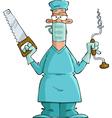 Surgeon vector image