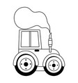 tractor chimney smoke agriculture farm isolated vector image