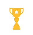 trophy winner cup icon flat icon prize vector image