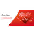 valentines day card background with big hearts vector image