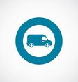 van icon bold blue circle border vector image vector image
