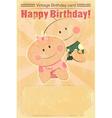 vintage design babirthday card vector image
