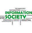 word cloud - information society vector image
