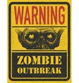 Zombie Outbreak Hand drawn Eps8 vector image