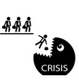 businessmen and crisis vector image