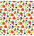 seamless patern of colorful berries vector image