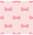 Seamless pattern with bows on pink background vector image