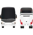 white bus vector image