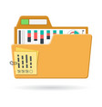 open folder icon vector image