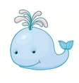 little baby whale cartoon funny isolated toy vector image