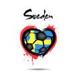 4528 - denmark heart soccer vector image vector image