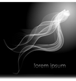 abstract smoke background isolated flow vector image vector image