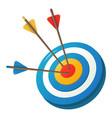 aim arrow icon cartoon style vector image