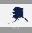 alaska usa map flag vector image vector image