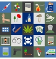 Alcohol drugs and tabac icons vector image vector image