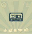 audio cassette icon vector image vector image