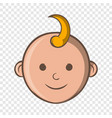Baby face icon cartoon style