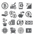 bitcoin icons set on white background vector image vector image