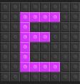 blocks in english capital letter e alphabet set vector image