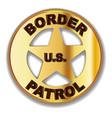 border patrol badge vector image vector image