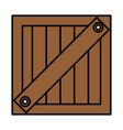 box wooden delivery service vector image