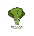 broccoli logo on white background vector image vector image