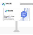 business bill board design with logo and creative vector image