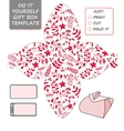 Christmas gift packaging template Favor vector image vector image