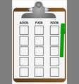 clipboard checklist vector image