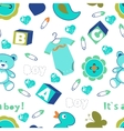 Colorful baby boy seamless pattern vector image vector image