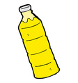 comic cartoon orange juice bottle vector image