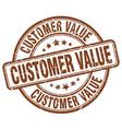 customer value brown grunge stamp vector image vector image
